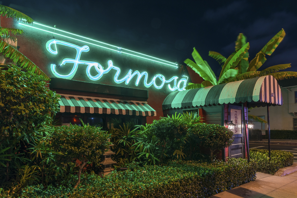 West Hollywood's Formosa Cafe at night