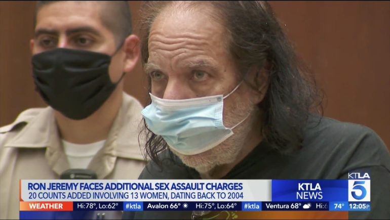 Ron Jeremy, the 68-year-old adult film star, is facing another 20 counts of sexual assault and groping.